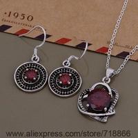 AS552 925 sterling silver Jewelry Sets Earring 684 + Necklace 1000 /bdgajuna boyakgfa