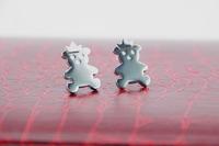 New Stainless Steel Earrings woman teddy bear earrings Fashion Silver earrings free shipping
