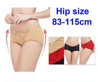 New 2014 sexy underwear women 83-115cm hip size women's lace briefs large size Woman briefs for women