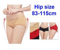 New 2014 sexy underwear women 83-115cm hip size women's lace briefs large size Woman briefs for women