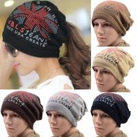 new reversible knit beanie hats,winter mens beanie hat,British Flag men & women warm hat skull caps,3 ways to wear,ATL