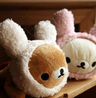 Kawaii Rabbit Rilakkuma Bear Plush Pen Pencil BAG Pouch Case ;  Size 22*9CM Coin Purse & Wallet BAG Pack Pouch;  Gift School BAG
