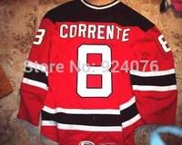 2007-08 Mike Pandolfo Jersey #9 Lowell Devils Jerseys ICE Hockey Jerseys Red XXS-6XL