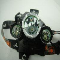 5000Lm 3x CREE XM-L T6 LED Head Light Headlamp HeadLight +Car Charger + 2x 18650