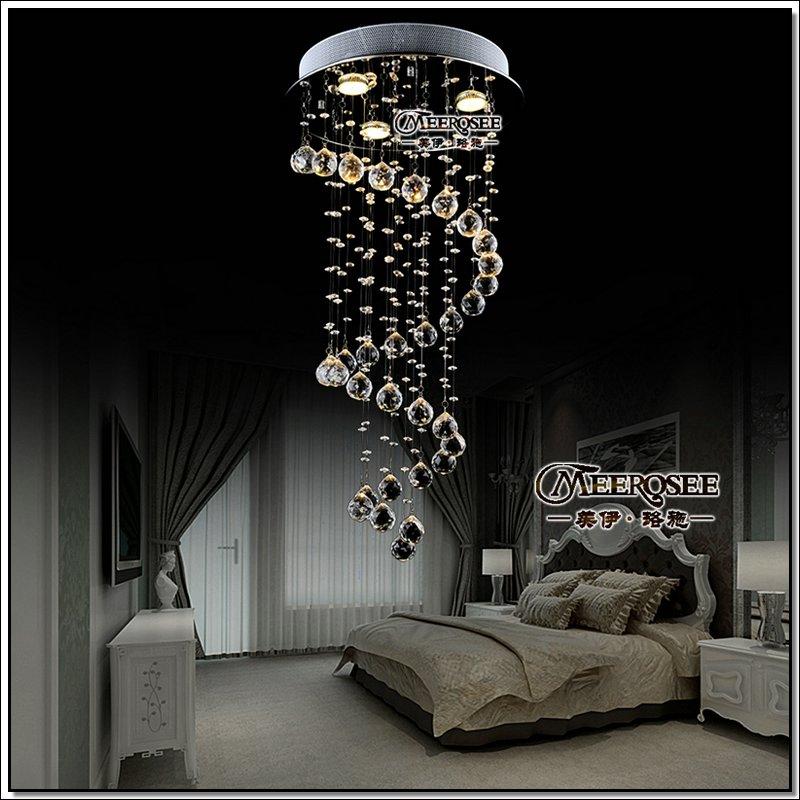 projeto espiral cristal teto luminária, escada de cristal luz, cristal de luz refeições d400mm h800mm md6002,(China (Mainland))