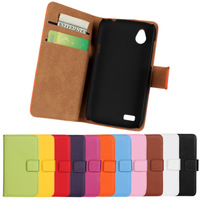 2014 New Stand Wallet Genuine Leather Case Cover for HTC Desire V T328W for Desire X T328e Phone Cases with Card Holder