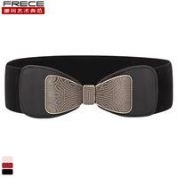Classic vintage elegant ultra wide elastic waist slim women's belt strap female