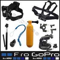 Sj5000 Sj4000 Gopro Accessories Chest  Head Strap Floating Grip Handlebar  Monopod  Cup For Go Pro Hero 3  4 Hero3 Black Edition