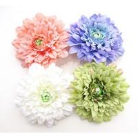 Women lady silk Mum hair flower with Clip hair accessories 60Pcs