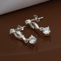 Hot Sale!!Free Shipping 925 Silver Earring,Fashion Sterling Silver Jewelry Austria Crystal Earrings SMTE472