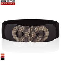 Metal cummerbund retro vintage finishing cummerbund female all-match ultra wide elastic strap belt female