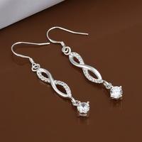 Hot Sale!!Free Shipping 925 Silver Earring,Fashion Sterling Silver Jewelry Fashion White Stone Earrings SMTE470