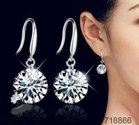 E153 Wholesale 925 sterling silver earrings , 925 silver fashion jewelry , 8MM 10MM /asuajkba cjmalata