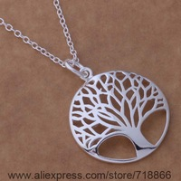 P346 Free Shipping 925 sterling silver Necklace, 925 silver fashion jewelry  /bbqajsxa coaalfha