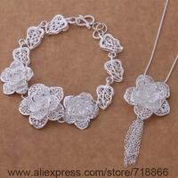 AS372 925 sterling silver Jewelry Sets Bracelet 284 + Necklace 699 /awiajnpa biaajzha