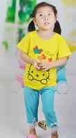 14 new children's summer cotton T-shirt Children Tshirt Girls Kids behalf