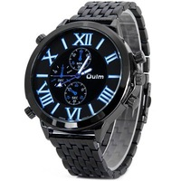 Free shipping Oulm 9423 Cool Japan Movt Men Quartz Watch with Roman Numerals Display and Stainless Steel Watch Band