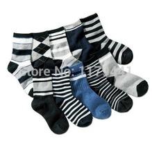 Socks Free shipping  autumn spring winter children's cotton striped kids baby socks 7-11 year boy sport socks  6pair=12pcs=lot(China (Mainland))