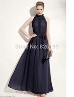 Casual Dress Hot Sale A-line Vestidos Free Shipping 2014 Women's Large Size Long Dress Bohemian Chiffon Women Top Quality