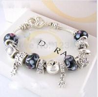 p103 Charm Chamilia bracelet 925 sterling silver crystal charm bracelet for woman.silver chamilia beads bracelets.
