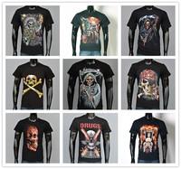 11Kinds Men 3D Skull tshirt printing cotton short-sleeved t-shirt streetwear 3D skull printed women TEE