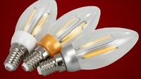 New Design 6w  E14 AC E14 AC 220V  LED Filament Candle Bulbs CRI 80 360 Degree Beam Angle 10 Pcs Free Shipping