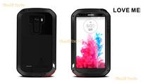 LOVE MEI Aluminum Powerful Waterproof Metal Case For LG G3 + Gorilla Glass MOQ:20pcs Free DHL