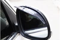 free shipping plastic pvc car rearview rain shield eyebrow for peugeot 206/207/307/308/3008/408/508