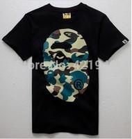 MiMiHoofreeshipping camo MilitaryBAPE t shirt tees t shirt COTTEN Tops Camouflage t-shirt tees summer men's fashion short sleeve