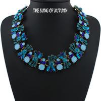 2014 New Design Fashion Brand Crystal Necklaces & Pendants Rhinestone Collar statement necklace Women jewelry wholesale