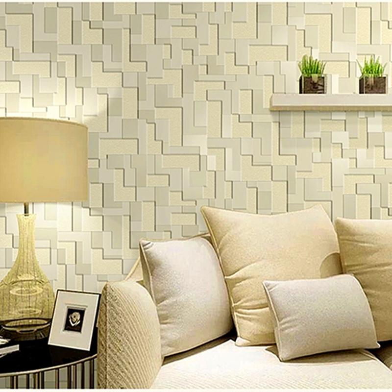 Koop wit licht geel licht grijze kleur 3d behang dik waterdicht kunstleer - Groen behang van het water ...