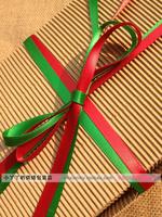 Packing christmas red green ribbon diy packing ribbon 20m length 2 colour free shipping