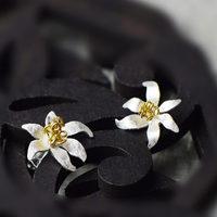 Very Thai Silver Thai silver semi-precious stones natural crystal earrings new silver inlaid stones
