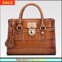 Fashion Vintage Genuine Leather Women Handbag Sequined Alligator Pattern Female Cow Leather Messenger Bag Desigual Brand B225