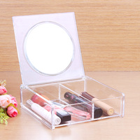 Makeup Organizer Jewelry Storage Holder Cosmetic Acrylic Clear Case Display Box  Free Shipping