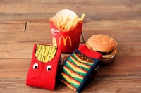 Fashion lovers  socks 100% cottom hamburger and chips woman and man socks free shipping