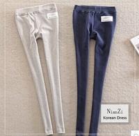 2014 New Fashion Korea Btty printed labels Stretch pure cotton leggings & Pentagram pattern tenths pants Free Shipping