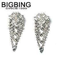 BigBing Fashion drop crystal tassel dangle earrings fashion earring fashion jewelry nickel free Free shipping!  NA326