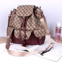 2015 Mochila Escolar 8867 Qiu Dong Three Letters with Bucket Bag Pulling Belt Buckle Shoulder Handbag Oblique Cross Backpack