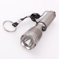 3 pcs/Lot _ CREE XPE 700LM 3-Mode Gray Squares LED Flashlight