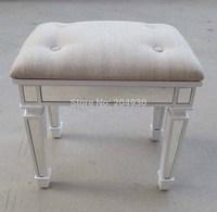 MR-401052B vanity stool, glass mirrored chair, sofa stool,ottoman