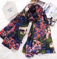 2014 NEW HOT Fashion trendy Cozy women ladies Noble women's scarf shawl neckerchief  designs Sexy Leopard cotton scarves S162