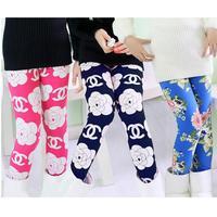 fashion girl plus velvet leggings Korean version of the thick section letters Saika leggings pants 2014 winter