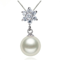 9 -- 10 mm round AAA natural freshwater pearl pendants Han edition JD2 - Y - 9 oga