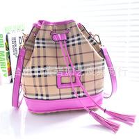 2015 Promotion Mochila Escolar New Korean Backpack Female Fringe Tassels Bucket Bag Fashion Shoulder Handbag with Multiple Small