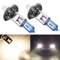 2 pcs/Lot _ Car White Headlight Halogen Bulb H1 HID Xenon Light Lamp 100W 12V