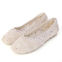 Vintage fashion bohemia 2014 single shoes ladies flat shoes oxford bottom net material women flats breathable elegant  flats