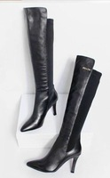 2014  Famous New Fashion Style Genuine Leather  oil wax leather Boots knee high women shoes anna   1410261059