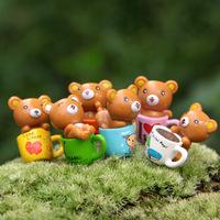 6pcs/lot Artificial Plastic PVC Cup bears ladybug wedding party home garden decoration accessories use