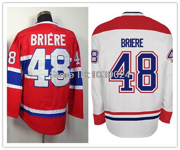 Men's 48 Daniel Briere Jersey Hockey Best Quality Red Daniel Briere Hockey Jersey Low Price Free Shipping(China (Mainland))
